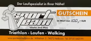Gutschein 100 Sportteam Andi Wenz Heilbronn